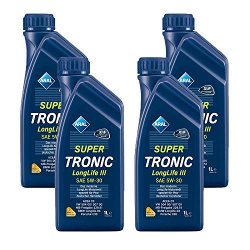 4x1 Liter Aral SuperTronic Longlife III 5W-30 Super Tronic Motor-Öl Motoren-Öl;