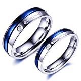 #10: Yellow Chimes Roses are Red Platinum Plated Never Fading Proposal Couple Rings for Girls and Boys. Perfect for Couple!