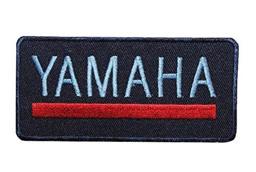alles-meine.de GmbH Yamaha 9,8 cm * 4,7 cm Bügelbild Aufnäher Applikation Instrument Motorrad Fahrzeug Boote Roboter