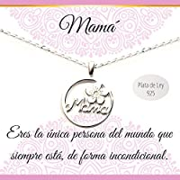 Colgante Mamá Plata de Ley con cadenar | Collar con mensaje | Regalos especiales | Joyas para mamá | Envío gratis