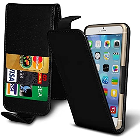 ( Black 155.4 x 77.8) case for HomTom HT7 case cover pouch Thin Faux Leather Holdit Spring Clamp Adjustable Flip case cover Skin With Credit/Debit HomTom HT7 case by i-Tronixs
