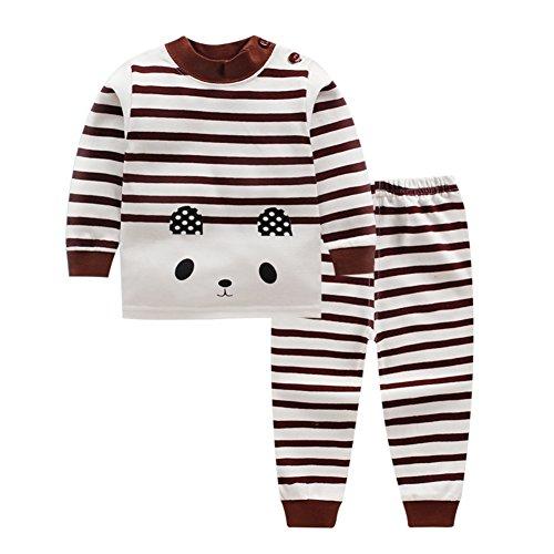 cc993402eb45f Petit garçon fille vêtements de nuit vêtements ensemble Cartoon doux pyjamas  dortoir 2 pièces pour 0