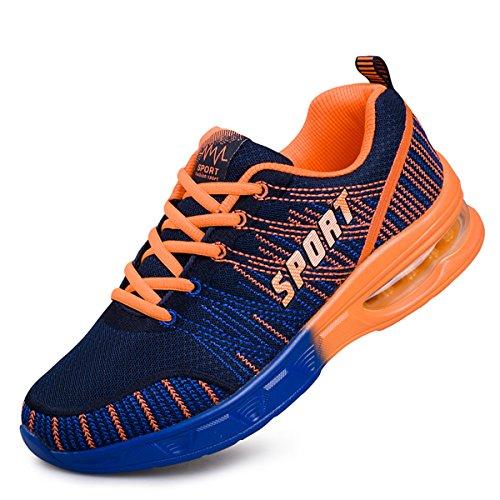 Pairlers ,  Herren Sneaker Low-Tops , - schwarz / orange - Größe: 40