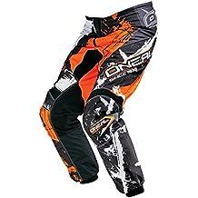 O 'Neal Element Niños MX Pantalón Shocker Naranja Motocross Enduro Offroad, 0124s de 55, infantil, negro, 28