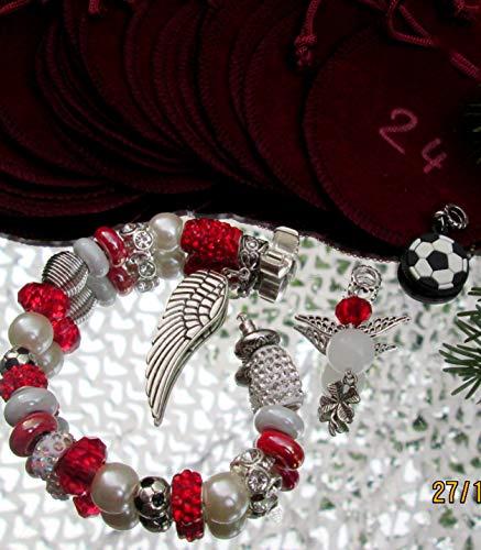 Schmuck Adventskalender Rot Weiss Rot