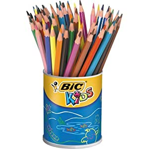BiC Kids Ecolutions Colouring Pencils in Can - Multi-Coloured, Pot of 60