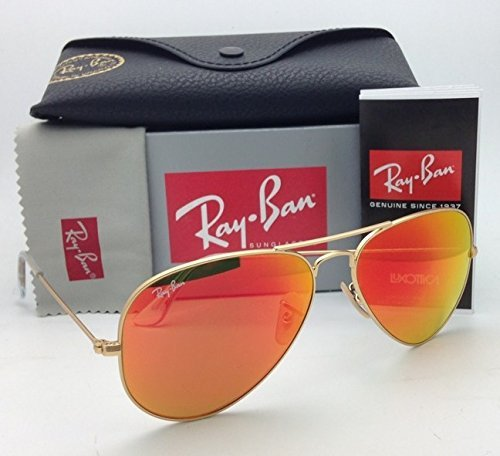 ray-ban-aviator-luxottica-red-orange-mirror-gold-frame-rb3025-112-69-58mm-made-in-italy