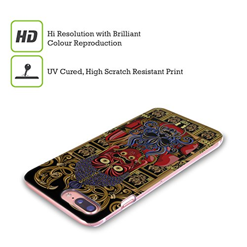 Head Case Designs Shogun Maschera Di Diavolo Giapponese Cover Retro Rigida per Apple iPhone X Buddha
