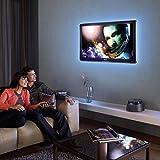 Kohree 2M/80' LED Streifen Wasserdicht Bunt Bias Beleuchtung TV Hintergrundbeleuchtung USB, RGB LED Strip Licht LED Lichtleiste mit Fernbedienung für HDTV, Flachbildschirm TV Zubehör und Desktop PC