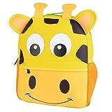 LITTHING Sac à Dos Enfant Mignon Cartable Scolaire Maternelle Mini Imperméable pour Enfant Primaire Petits Garderie PréScolaire Garçons ou Filles Hop Zoo (Girafe (26 * 10 * 32cm))