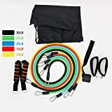 Delicacydex 11 stücke Multifunktionale Fitnessgeräte Set Sport Tension Seil Bodybuilding Übung Bands Kombinierte Brust Expender Apparat - Multicolor