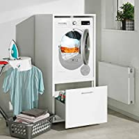 Waschmaschinenschrank Melamin Größe S B/H/T 67x146x65 Cm  Waschmaschinenüberbau Einbau Schrank Waschmaschine Wäschetrockner