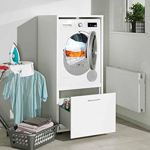 Waschmaschinenschrank Melamin Größe S B/H/T 67x146x65 cm Waschmaschinenüberbau Einbau-Schrank Waschmaschine Wäschetrockner