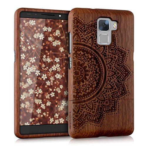 kwmobile Huawei Honor 7 / Honor 7 Premium Hülle - Handy Schutzhülle aus Holz - Cover Case Handyhülle für Huawei Honor 7 / Honor 7 Premium