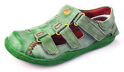 TMA Leder Damen Sommer Schuhe Sandalen 1343 Grün