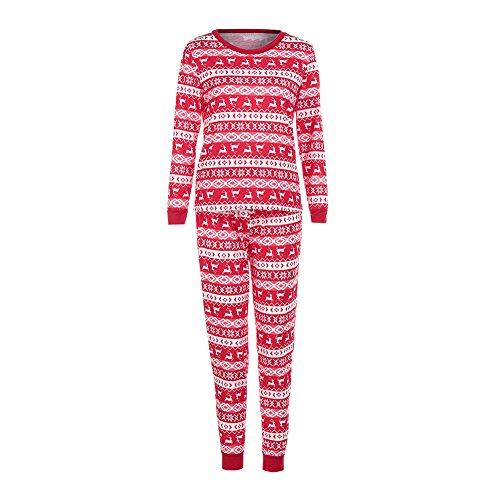 URSING Xmas Weihnachtsbaum Set Family Matching Vater Mutter Kinder Neugeborenen Pyjamas Langarm Schlafanzug Nachtwäsche Deer T-shirt Hosen Romper Jumpsuit Familie passenden Outfits (S, Mama)