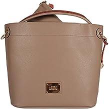 2b85d3765fa45 L. CREDI Damen Shopper Tasche Aberdeen Taupe (beige)