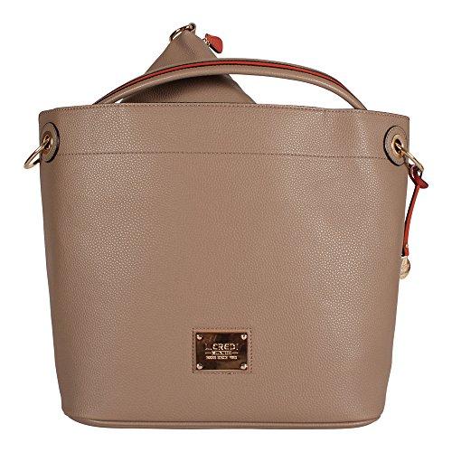 L. CREDI Damen Shopper Tasche Aberdeen Taupe (beige)