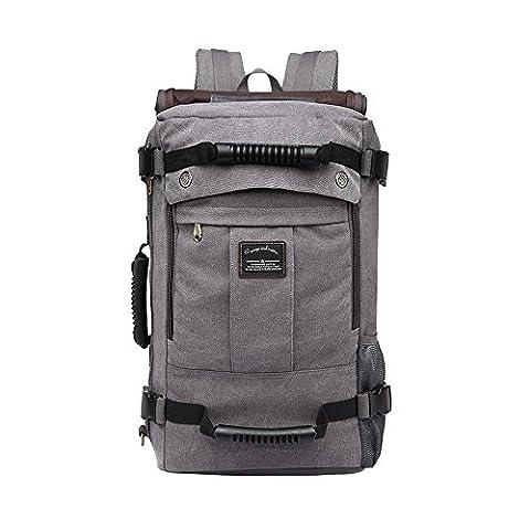 VRIKOO Vintage Shoulder Canvas Backpack Outdoor Hiking Travel Rucksack Laptop Bag
