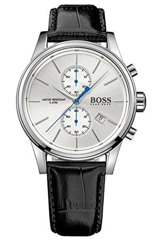 Hugo Boss - 1513282 - Montre Homme - Quartz - Chronographe - Chronomètre - Bracelet cuir noir
