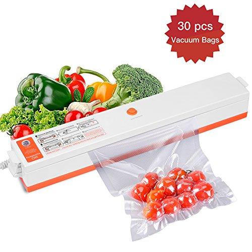 Macchina sottovuoto alimenti,crazyfire macchina sigillatrici con 30 pezzi sacchetti sottovuoto goffrati per il cibo secco / umido,lavoro d'ufficio, gioielli