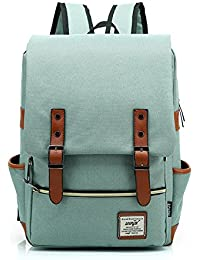 Escuela Dayback mochila de viaje mochila para ordenador portátil 15,6 pulgadas Bolsa resistente bolsa de lona para niños niñas Mujeres verde verde