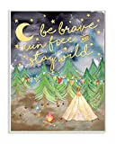 Stupell Home Dcor Be Brave Camping Painting Wall Plaque Art, 10 x 0.5 x 15, Proudly