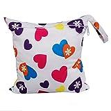 Highdas Infantile del bambino sacchetto impermeabile Zipper, lavabile riutilizzabile Cloth Diaper Bag, baby fasciatoio Borsa per le mamme - Amore