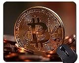 Tappetino per Mouse da Gioco Personalizzato, Tappetino per Mouse con Banconote Bitcoin Dollaro con Bordo Cucito