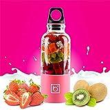 TAOtTAO Wiederaufladbare Saftpresse Tasse Mixer USB Automatische Obst Gemüse Mixer (Pink)