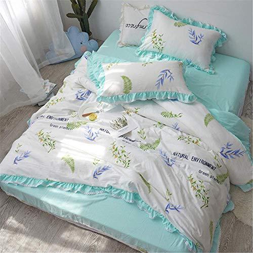 SHJIA Einfachheit Stilvolle Weiche Bequeme Bettwäsche Full Size Tröster Sets Kissenbezug Duver Cover King Decor E 200x230 cm -