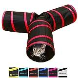 Purrfect Feline tunnel of Fun, pieghevole a vie Cat tunnel giocattolo con piega, Medium, Sandali Adventure Seeker, punta chiusa - T - Bambini