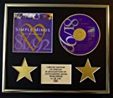 SIMPLE MINDS/CD DISPLAY/LIMITED EDITION/COA/GLITTERING PRIZE