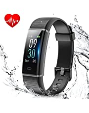 MUZILI Fitness Band Activity Tracker with Heart Rate Monitor, IP68 Waterproof for Android or iOS Smartphones