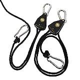 BLACK ORCHID BO-RR Rope Ratchet Lighting Fan Filter Hanger, Black