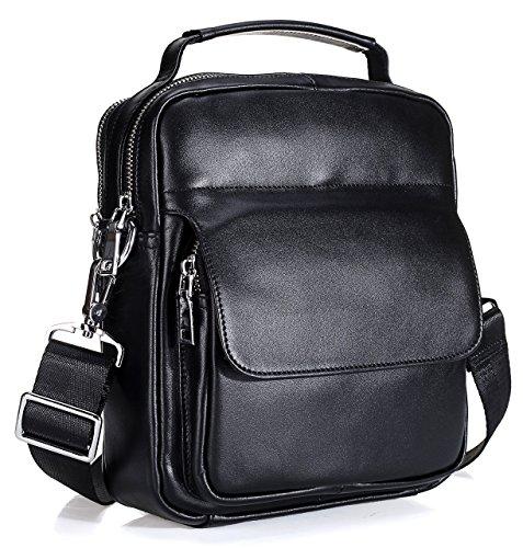 Everdoss Herren echt Leder Vintage Umhängetasche Business Handtasche casual Kuriertaschen Crossbody