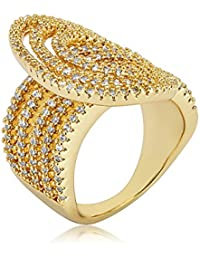 Shaze Golden Shimmer Party Fashion Ring for Women/Girls Rings for Women Ring for Girlfriend