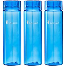 Solimo Water Bottle, 1000 ml, Set of 3, Blue