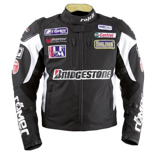 *Roleff Racewear Motorradjacke Textil, Schwarz, Größe M*