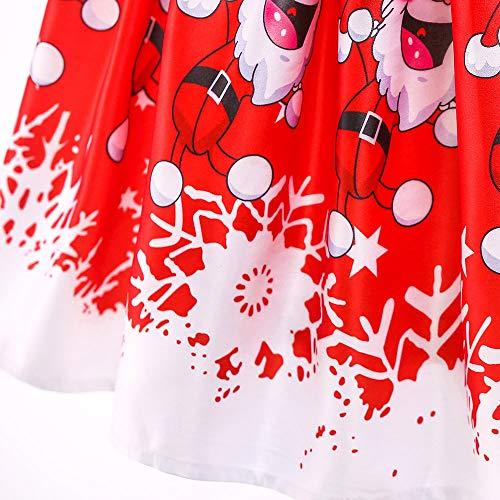 Homebaby Neonata Bambino Piccolo Costume Cosplay di Natale Babbo Stampare  Vestito Ragazze Vintage Mini Abiti Elegante Gonne A Vita Alta Tutu  Principessa ... 2a9ebded8cf
