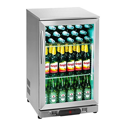 Royal Catering RCGK-108S Nevera Expositora Frigorifico Minibar Nevera Pequeña Bebidas Botellas Refrigerador...