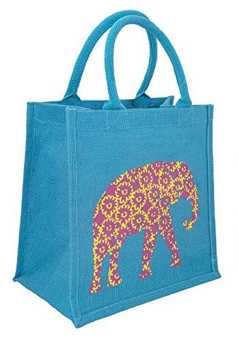 Fair-trade-shopper (kailash Jutetasche mit Druck - 30x30x20 cm - Fair Trade (Elefant))