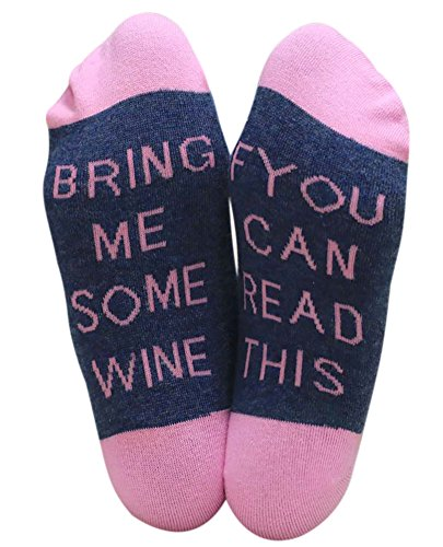 IF YOU CAN READ THIS BRING ME A GLASS OF WINE Socken Lustige Unisex Damen Mann Socken Neuheit Baumwolle Crew Socken Casual Acryl-crew Socke