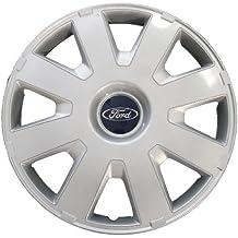 """Genuine Ford Parts - Tapacubos para Ford Focus MK2+3 C-Max/ Mondeo (1 unidad, 16""""), color plateado"""