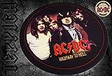 Geschenktrends Rockbites - Runder Teppich AC/DC Highway to Hell, D: 100 cm - Teppich für Proberaum, Tonstudio