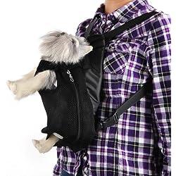 Mochila Bolsa para Gato Mascota Viaje Color Negro Talla M