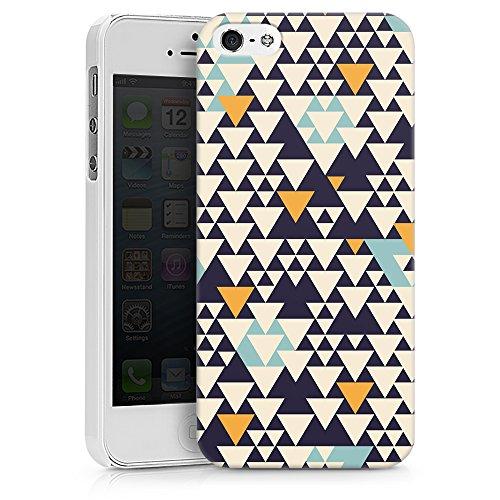 artboxONE Premium-Handyhülle iPhone 5/5S/SE Bodart Pattern I - Geometrie - Smartphone Case mit Kunstdruck hochwertiges Handycover kreatives Design Cover von Florent Bodart Hard Case weiß