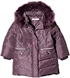 NAME IT Baby - Mädchen Jacke NMFMELA DOWN Jacket Camp, Violett Detail: with Arctic Dusk Color Fur, 98
