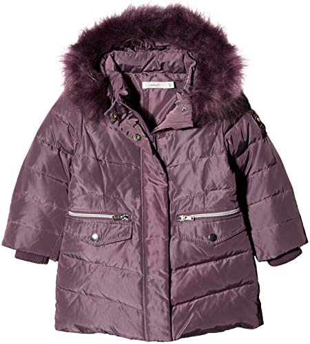 NAME IT Baby-Mädchen NMFMELA DOWN Jacket Camp Jacke, Violett Detail: with Arctic Dusk Color Fur, 98 Arctic Down Parka