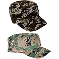 MagiDeal 2 Stück Damen Herren Outdoor Baseball Cap Casual Camouflage Mütze